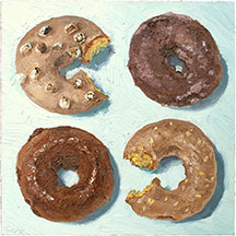 Donut Paintings by Mike Geno